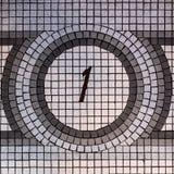 Mosaico del piso del número uno imagen de archivo libre de regalías