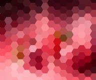 Mosaico del pixel di esagono di Digital, luminoso, rosa, porpora, fondo astratto di vettore di colore illustrazione vettoriale