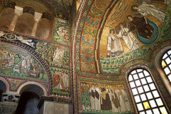 Mosaico del siglo X en Ravena Italia Imágenes de archivo libres de regalías