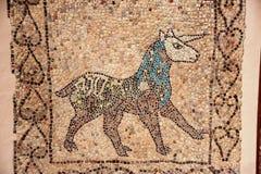 Mosaico del unicornio fotografía de archivo