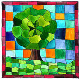 Mosaico dell'albero Fotografie Stock Libere da Diritti