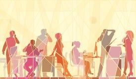 Mosaico dell'ufficio illustrazione di stock