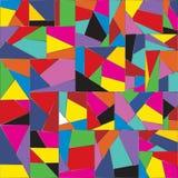 Mosaico della carta da parati del fondo con i cocci colorati eterogenei illustrazione di stock