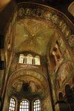 Mosaico della chiesa della basilica della st Vitale Fotografia Stock Libera da Diritti
