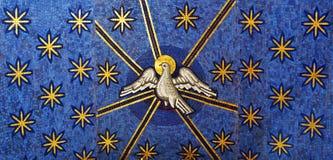Mosaico della colomba di bianco illustrazione vettoriale