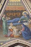 Mosaico della facciata della cupola di Orvieto Fotografie Stock