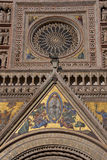 Mosaico della facciata della cupola di Orvieto immagini stock libere da diritti
