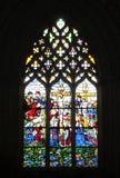 Mosaico della finestra fotografia stock