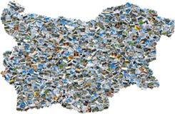 Mosaico della foto della mappa bulgara Fotografie Stock