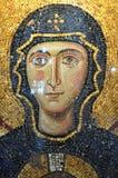 Mosaico della Mary di Virgin a Hagia Sophia Immagine Stock