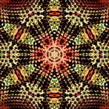 Mosaico di Brown della pelle del chiodo da roccia jewerly royalty illustrazione gratis
