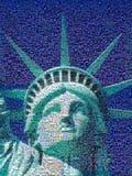 Mosaico di Digital di piccole immagini che comprendono statua della libertà Immagini Stock Libere da Diritti