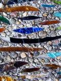 Mosaico di pietra e di vetro Fotografia Stock
