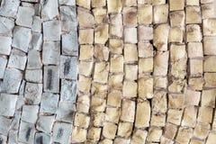 Mosaico di pietra di marmo d'annata di tono del primo piano due vecchio fotografie stock