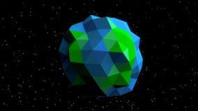 Mosaico di scena 3D della terra Fotografia Stock
