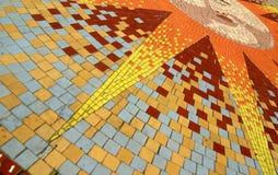 Mosaico di Sun Fotografie Stock Libere da Diritti