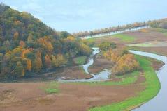 Mosaico di Trempeleau River Valley - Wisconsin Fotografie Stock Libere da Diritti
