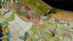 Mosaico di Trencadis in Parc Guell Immagini Stock Libere da Diritti