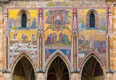 Mosaico di ultimo giudizio in san Vitus Cathedral a Praga Fotografia Stock