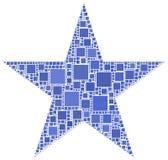 Mosaico di una stella Fotografia Stock