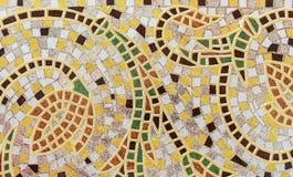 Mosaico do azulejo com ornamento floral Fundo e textura do mosaico dos azulejos imagens de stock