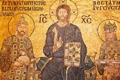 Mosaico do Jesus Cristo em Hagia Sophia Fotografia de Stock Royalty Free