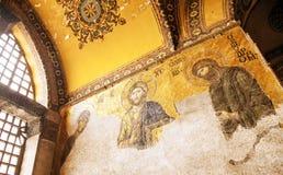 Mosaico do Jesus Cristo em Hagia Sophia Fotografia de Stock