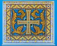 Mosaico do ornamento cristão velho fotos de stock royalty free