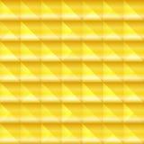 mosaico do quadrado 3d Fundo dourado abstrato, molde do projeto ilustração do vetor
