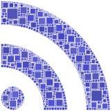 Mosaico do símbolo de RSS Fotografia de Stock