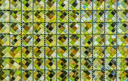 Mosaico do vidro verde para o banheiro fotografia de stock