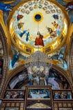Mosaico dorato in chiesa copta Fotografie Stock Libere da Diritti