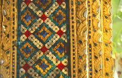 Mosaico dorato sul tempiale Fotografie Stock