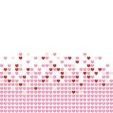Mosaico dos corações Foto de Stock