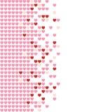 Mosaico dos corações Fotografia de Stock Royalty Free