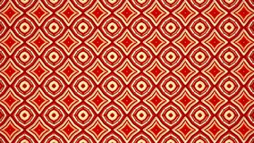 Mosaico em mudança abstrato no vermelho ilustração do vetor
