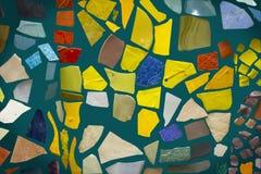 Mosaico em um fundo azul Imagens de Stock Royalty Free