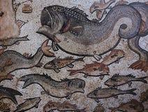 Mosaico en Arian Baptistry, Ravena, Italia imagenes de archivo
