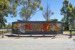 Mosaico en Coonalpyn, sur de Australia imagenes de archivo