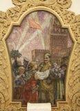 Mosaico en el metro de Moscú Fotografía de archivo