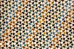 Mosaico en el palacio de Alhambra en Granada Foto de archivo libre de regalías