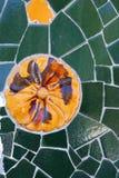 Mosaico en el parque Güell, Barcelona Fotos de archivo libres de regalías