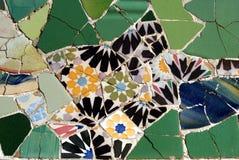 Mosaico en el parque Guell, Barcelona Imagen de archivo