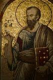 Mosaico en la iglesia de Chora fotografía de archivo