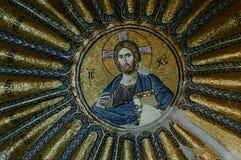 Mosaico en la iglesia de Chora, imagen de archivo
