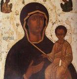 Mosaico en la iglesia del salvador de Neredica, Novgorod, Rusia Imagen de archivo libre de regalías