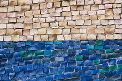 Mosaico en la pared Imagenes de archivo