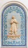 Mosaico en la pared en el centro de exposición en Kiev Imagenes de archivo