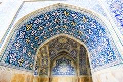 Mosaico en la puerta de la mezquita en Irán Fotografía de archivo libre de regalías