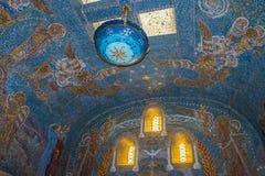 Mosaico en Mont Saint Odile Cloister, Ottrott, Francia Fotografía de archivo libre de regalías